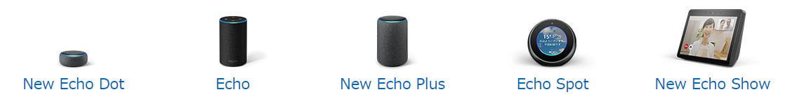 Amazon echoの種類