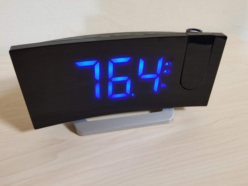 MPOWデジタル時計のFMラジオ