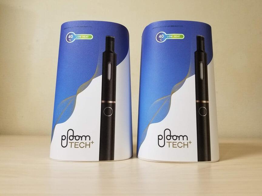 プルームテック・プラス(Ploom TECH+)のブラックとホワイト