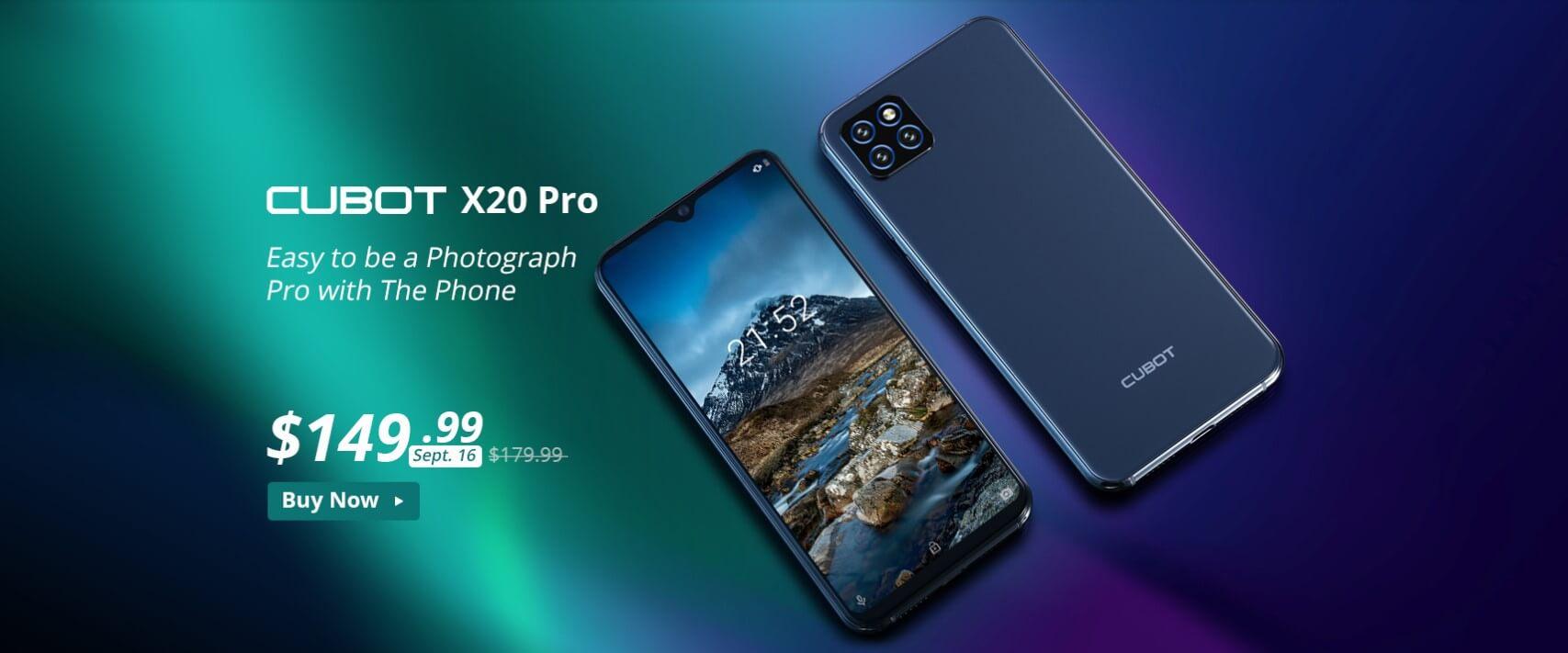 「CUBOT X20 Pro 」発売