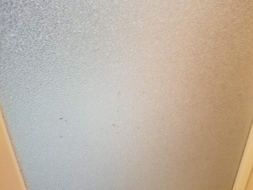 浴室のガラスにカビ取り剤スーパー