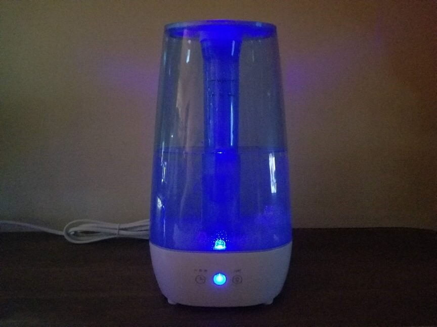 Dreamegg超音波加湿器のLEDライト
