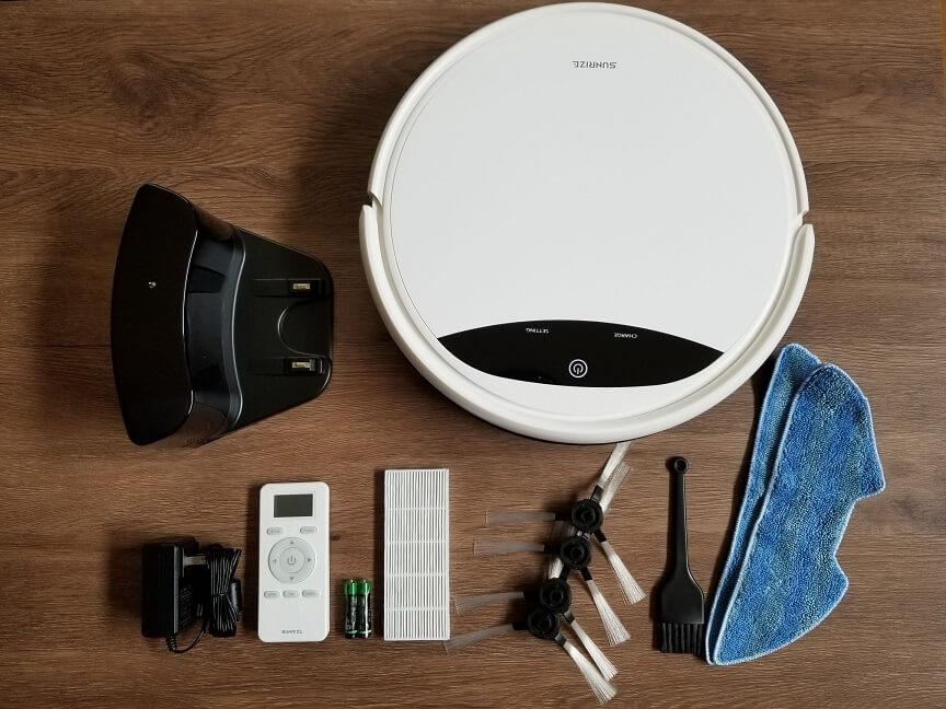 モダンデコのロボット掃除機PASEP bl01の付属品