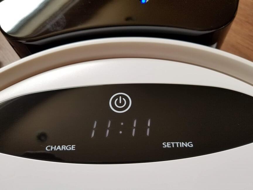 モダンデコのロボット掃除機PASEP bl01の充電方法