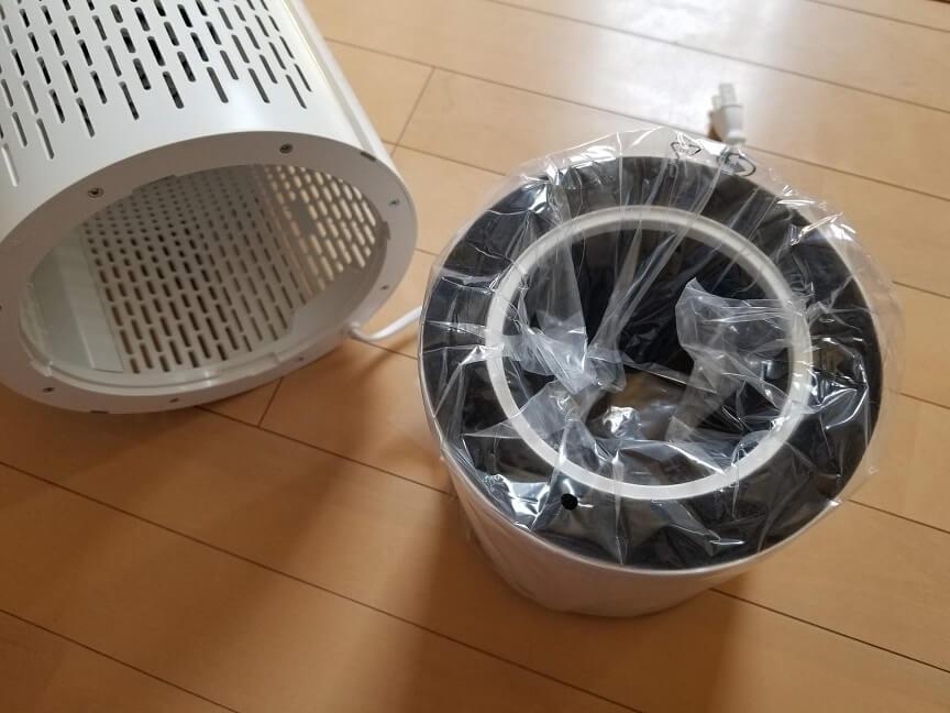 HIMOX-H03空気清浄機の外観