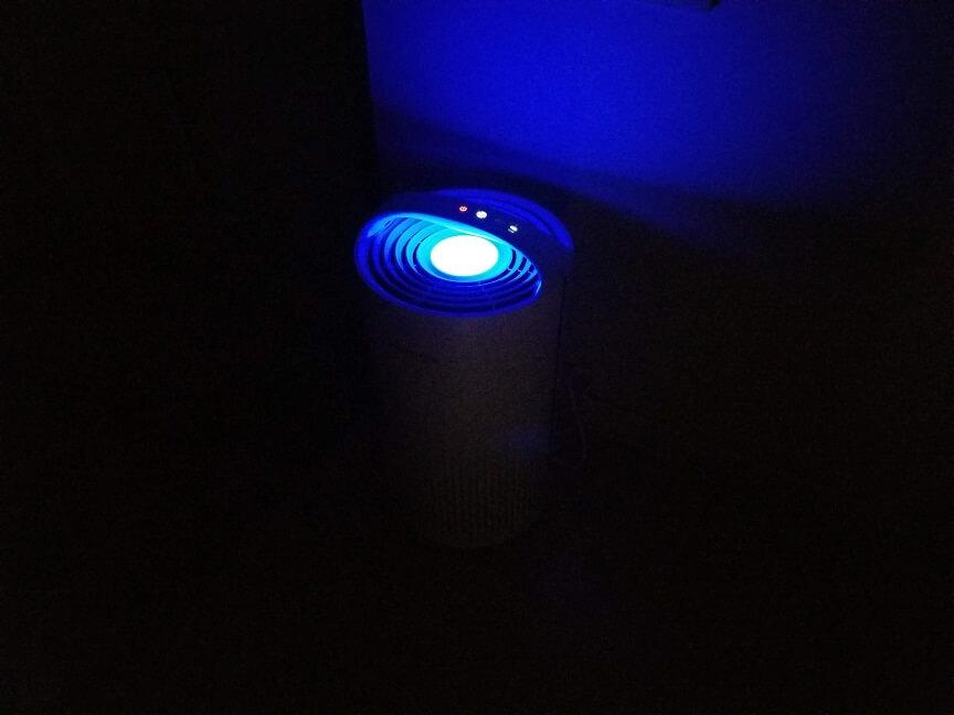 HIMOX-H03空気清浄機のLEDライト