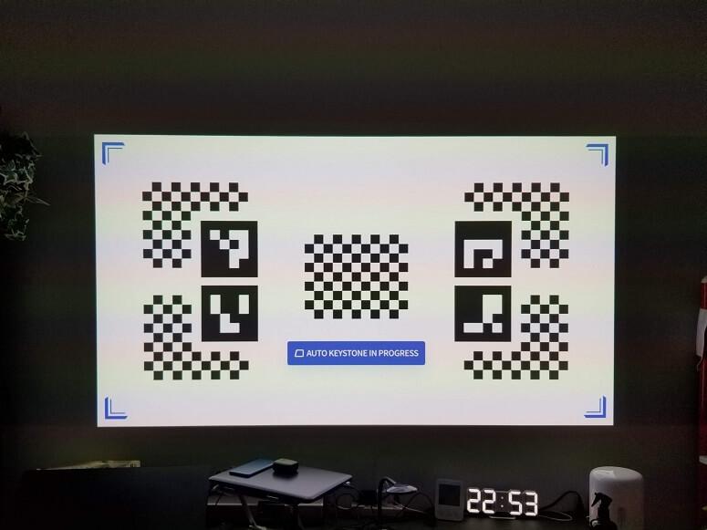 XGIMI HORIZON Proの台形補正
